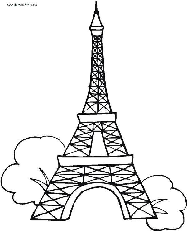 600x742 Coolest Eiffel Tower Colouring Sheet
