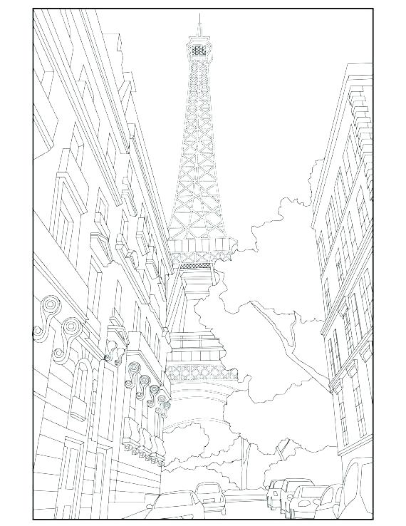 570x738 Eiffel Tower Coloring Page Tower Coloring Pages Color Pictures
