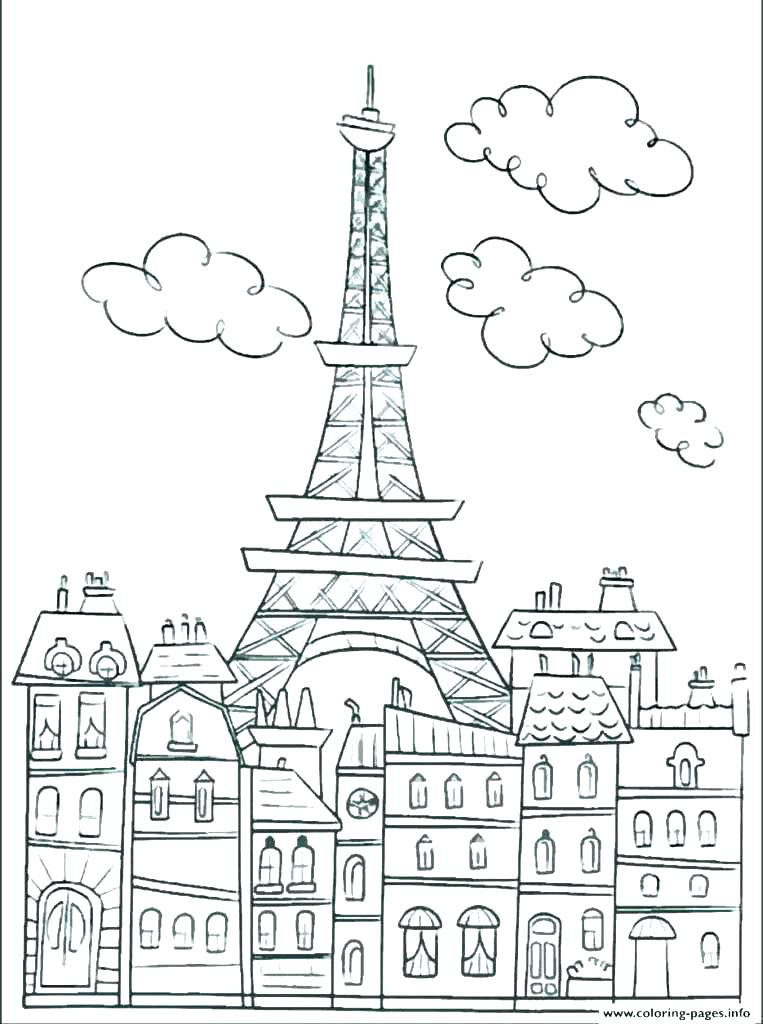 763x1024 Eiffel Tower Coloring Page Tower Coloring Pages Tower Coloring