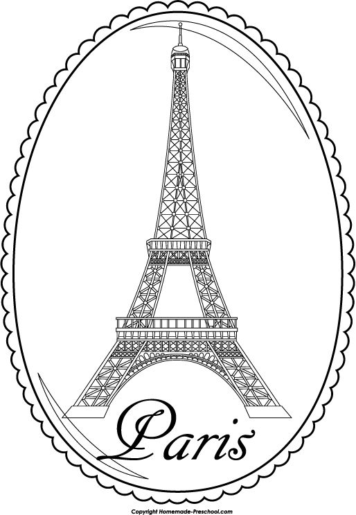 514x743 Eiffel Tower Coloring Pages