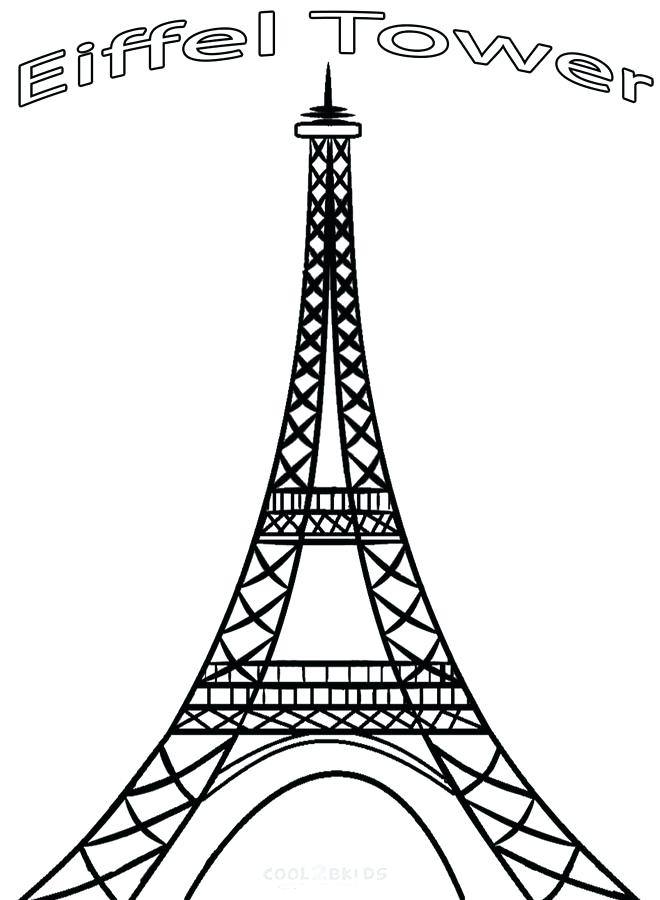 660x900 Eiffel Tower Coloring Pages Coloring Pages Of Tower Eiffel Tower