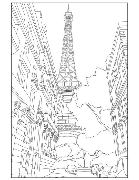 Paris France Coloring Pages At Getdrawings Com Free For
