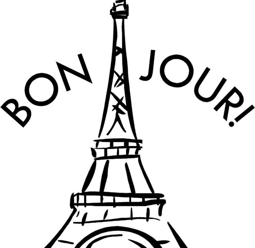 823x800 Kids Eiffel Tower Coloring Page Pages Outline Colouring Paris