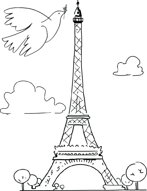 615x800 Paris Coloring Sheets Printable Tower Coloring Pages For Kids