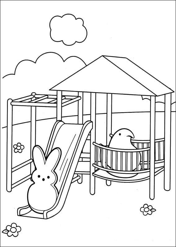 567x794 Free Printable Peeps Coloring Pages