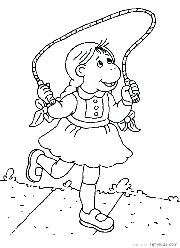 720x990 Coloring Read Playing Rope Coloring Page Read Playing Rope