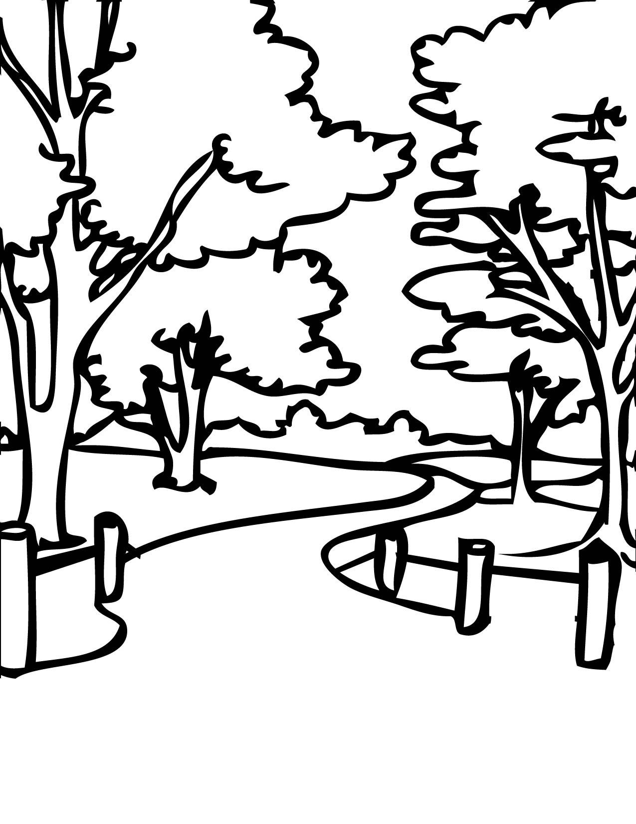 1275x1650 Park Coloring Page