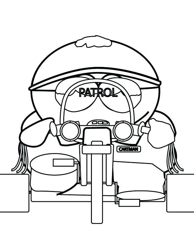644x833 South Park Coloring Page South Park Coloring Pages South Park