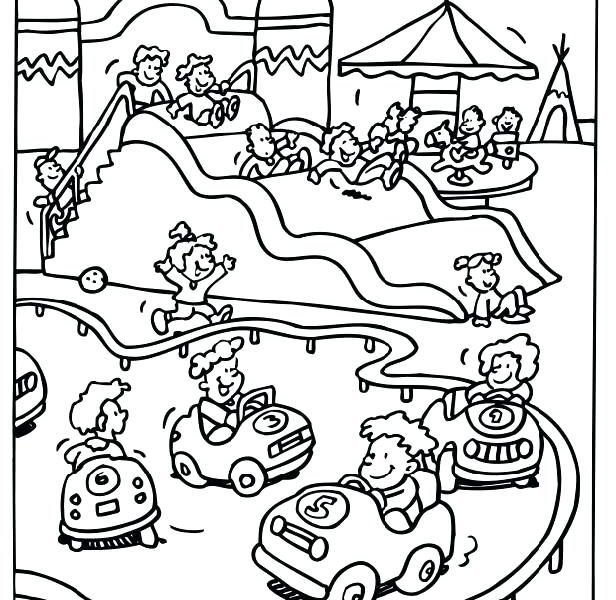 616x600 Water Park Coloring Pages Coloring Page
