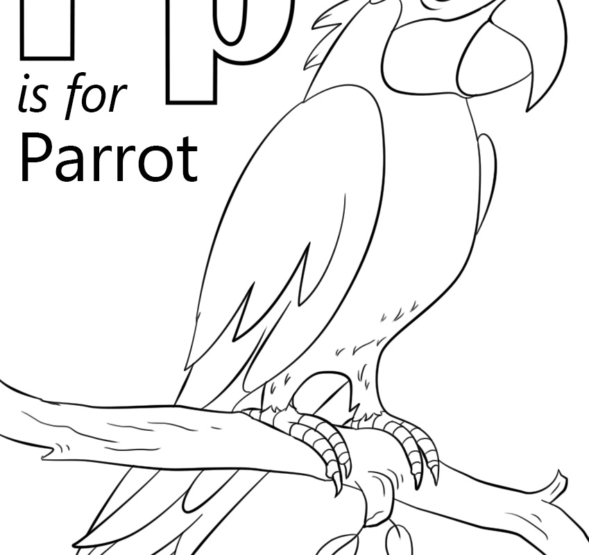 849x800 Letters P Coloring Pages Letter For Learning And Fun Kids