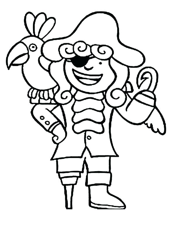 600x808 Pirate Parrot Coloring Pages Parrot Coloring Sheets Pirate Parrot
