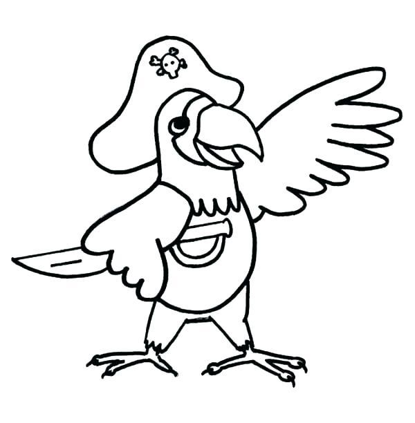 600x612 Parrot Coloring Page Elegant Parrot Coloring Pages Print