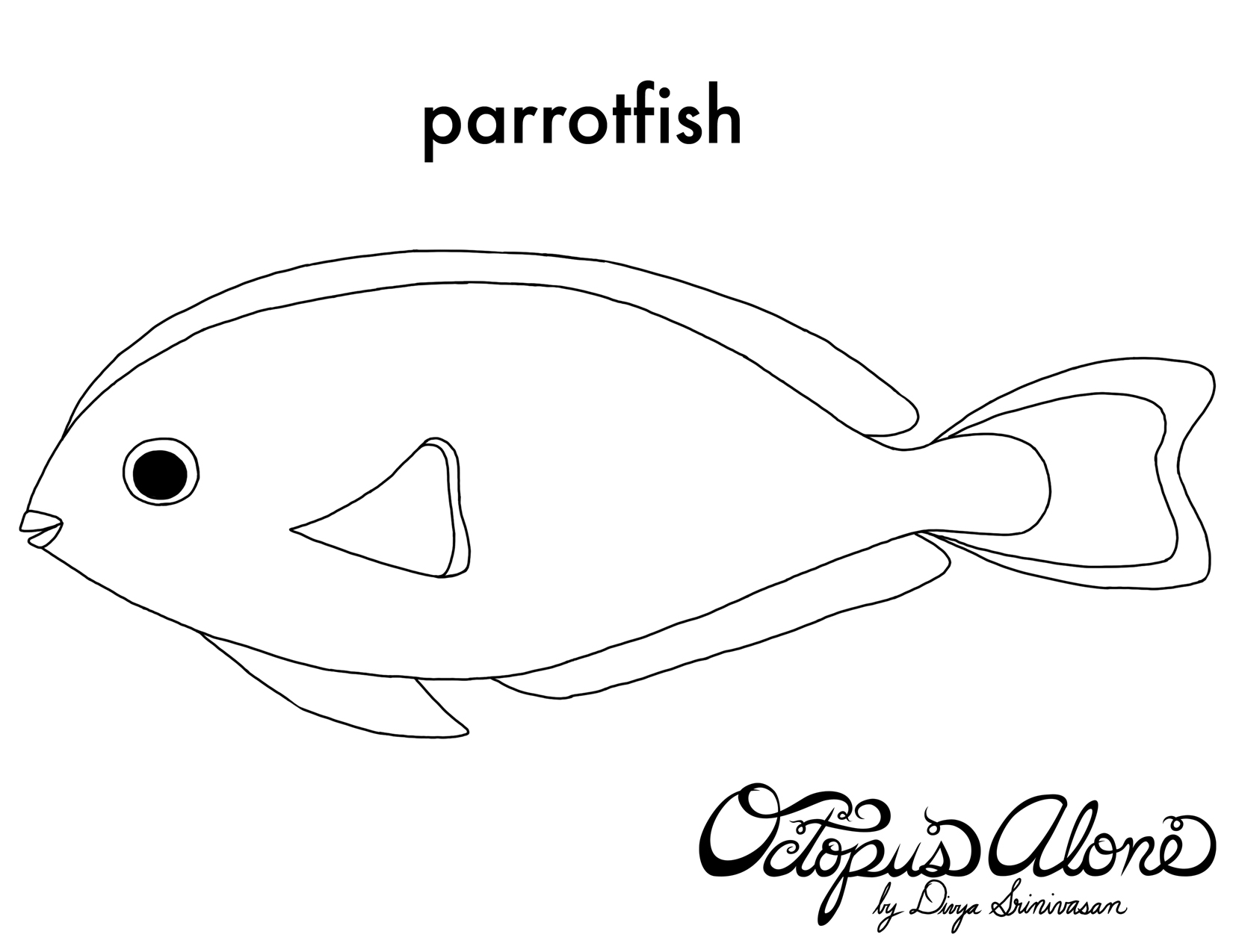 1650x1275 Parrot Fish Coloring Page Sketch Template, Parrot Fish Coloring