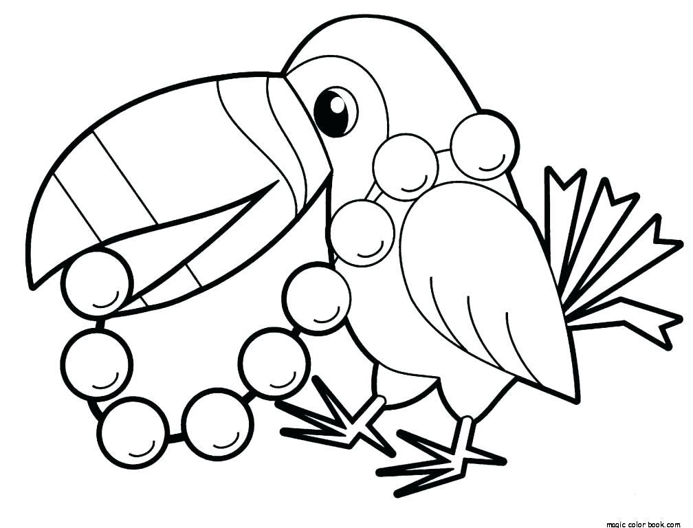 1008x768 Coloring Pages Of Parrots Big Parrot Coloring Page Parrot
