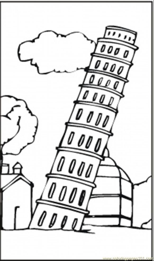 Parthenon Coloring Page