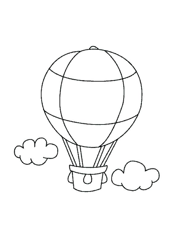 600x799 Air Balloon Coloring Sheets Kids Coloring Balloons