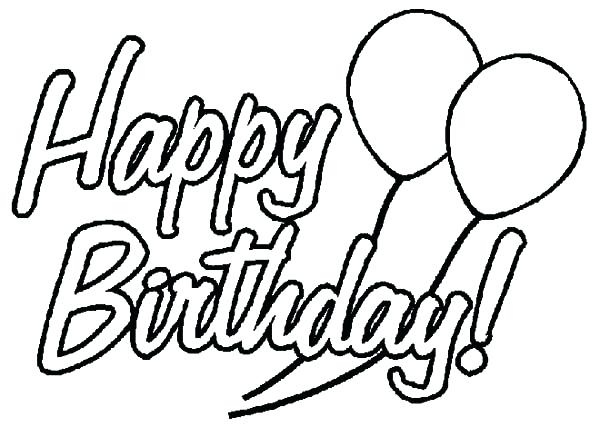 600x427 Balloons Coloring Pages Birthday Party Decorated With Balloons