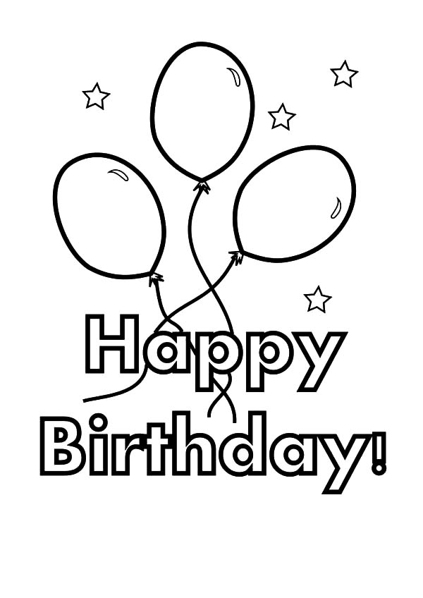 600x848 Balloons For Birthday Party Coloring Pages Balloons For Birthday