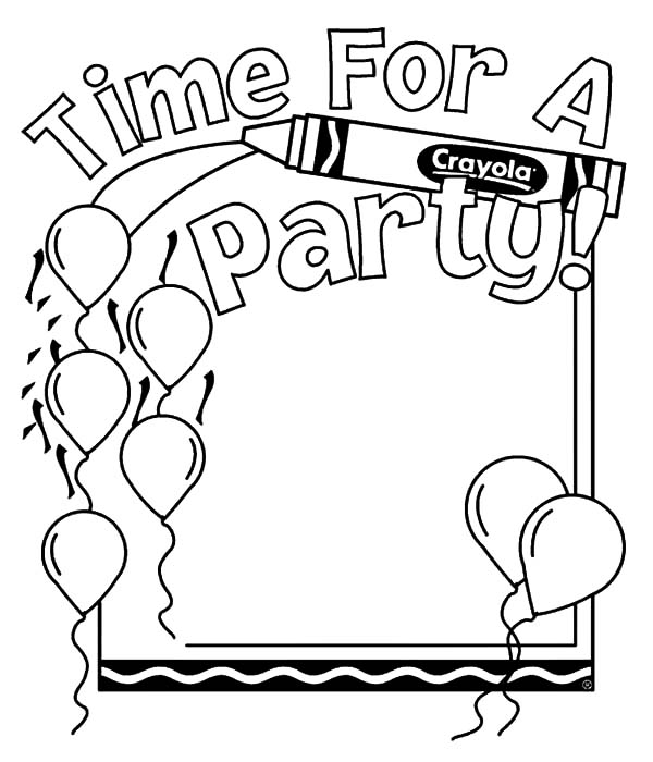 600x700 Balloons For Party Coloring Pages Best Place To Color