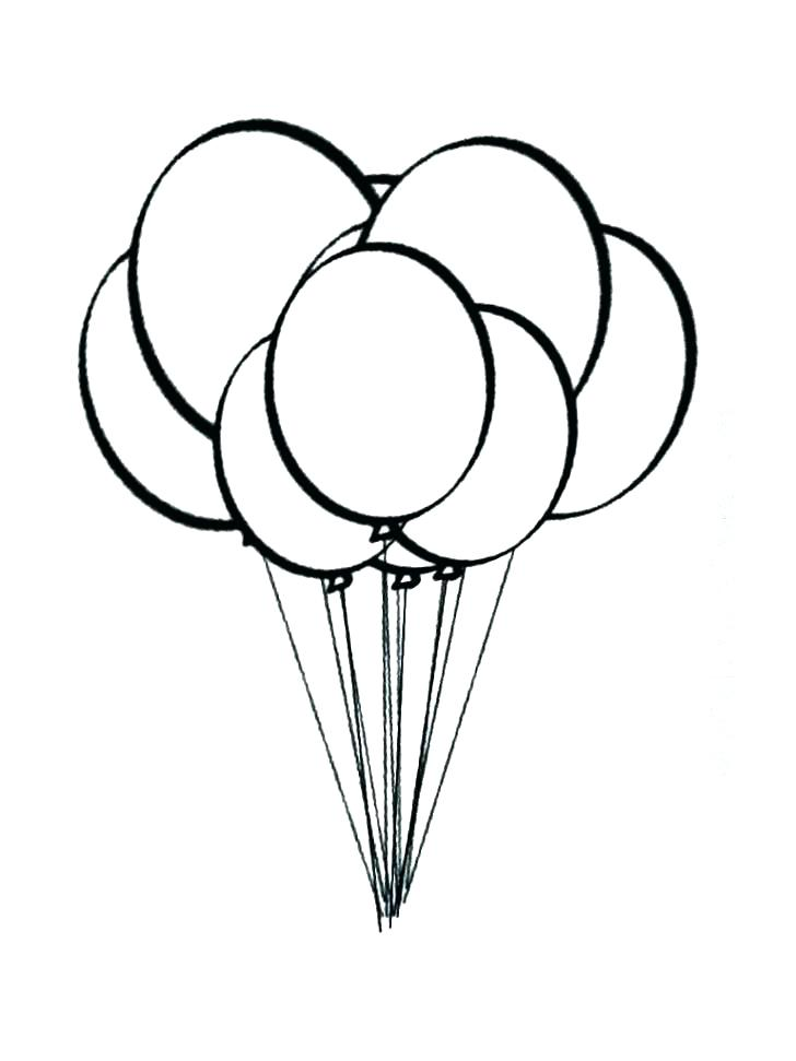728x971 Balloons Coloring Pages To Print Professional