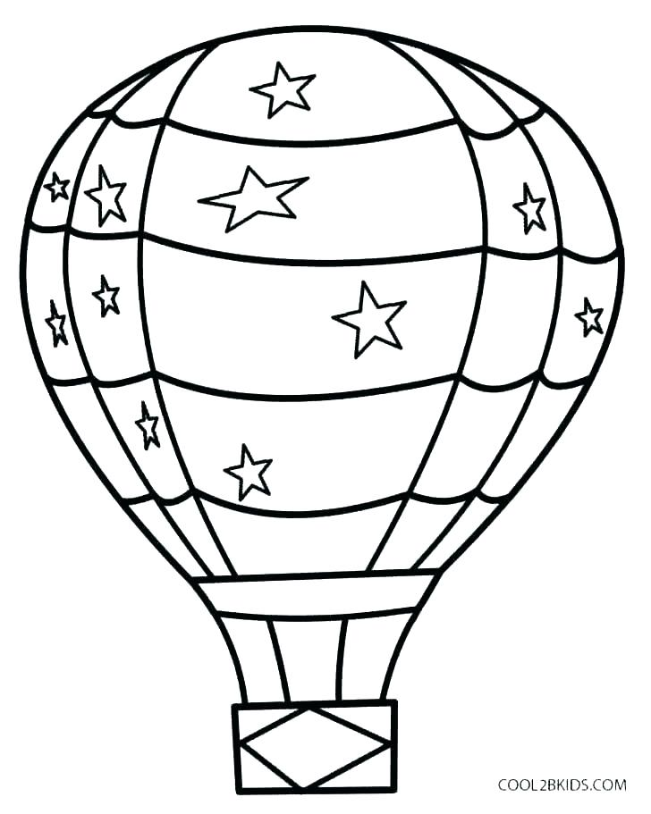 728x911 Balloon Coloring Page Coloring Pages For Kid Kids Coloring Pages