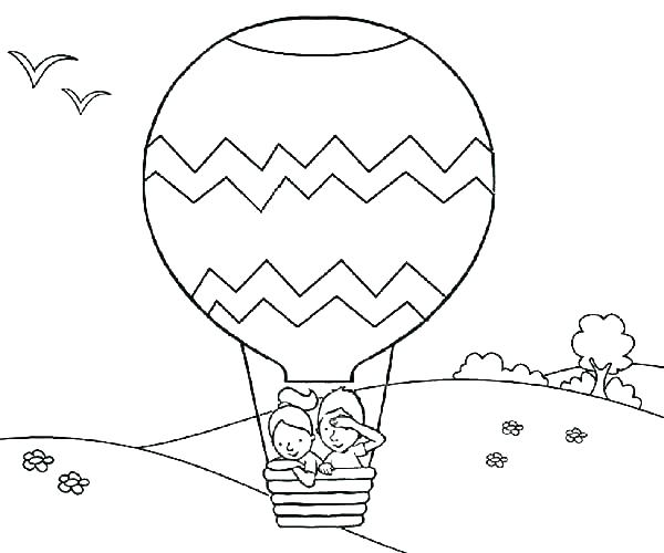 600x500 Balloon Coloring Pages Printable Balloon Coloring Pages Coloring