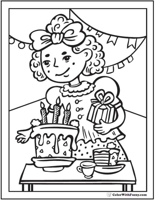 party coloring pages 2