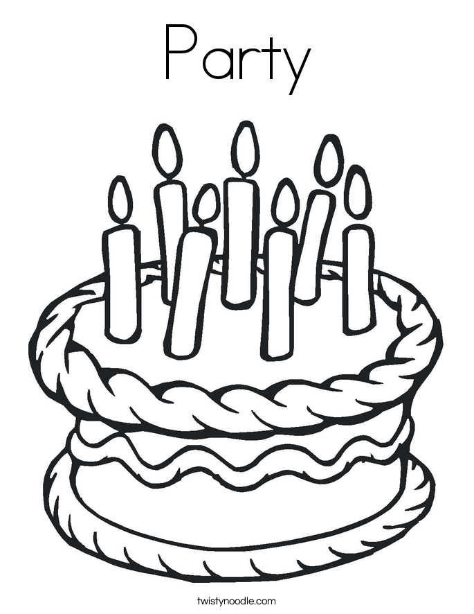 685x886 Party Coloring Page