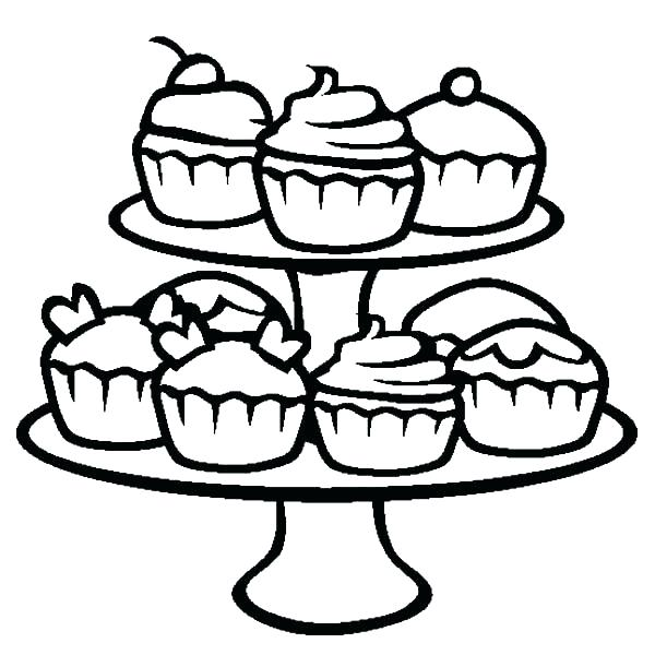 600x611 Party Coloring Pages Coloring Pages Of Cupcakes Also Cupcakes