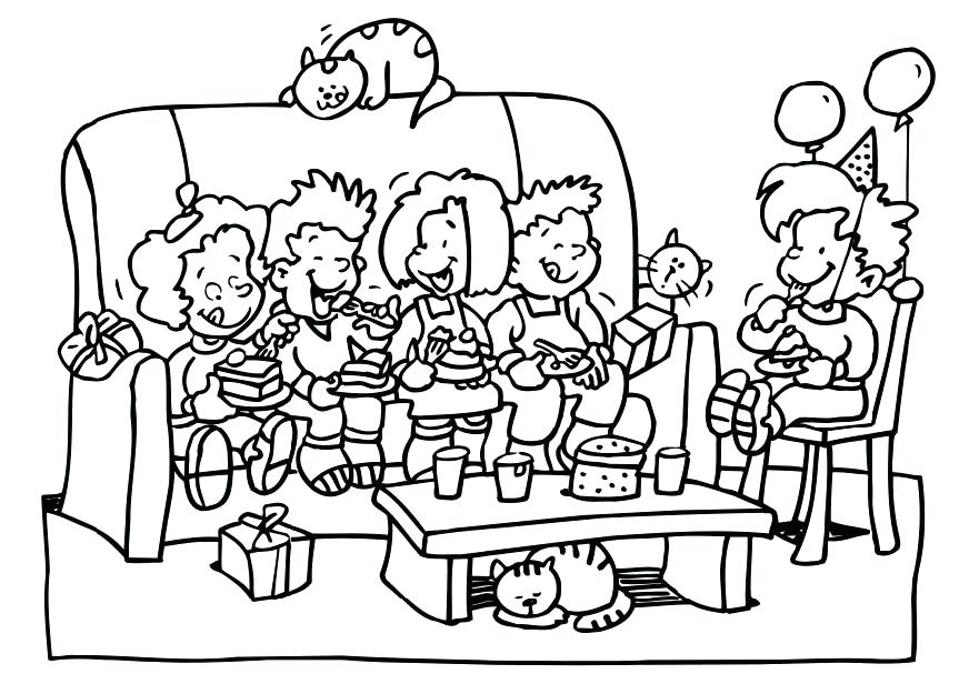 872x616 Party Coloring Pages Free Birthday Party Coloring Pages Free New