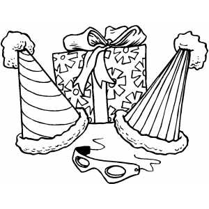 300x300 Party Favors Coloring Page