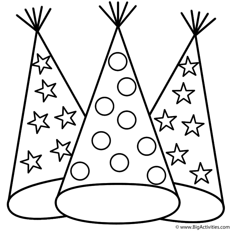 800x800 Party Hats