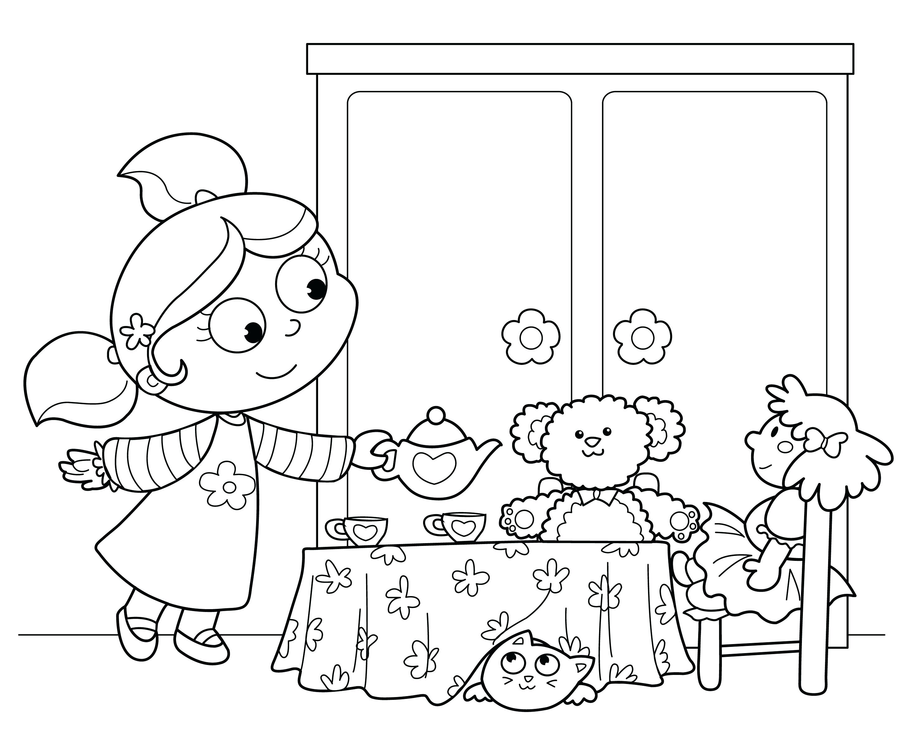 2953x2362 Amazing Free Tea Party Coloring Pages Of The B