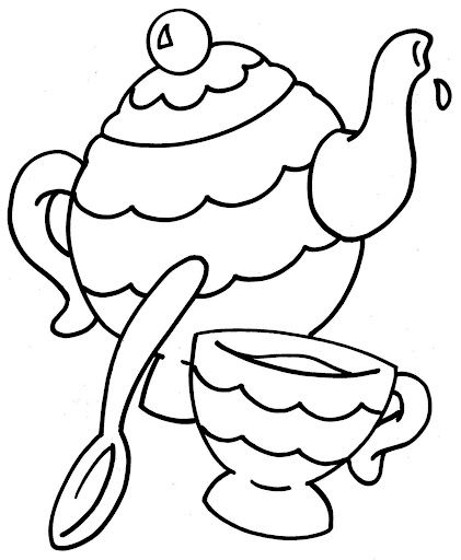 421x512 Tea Party Coloring Pages