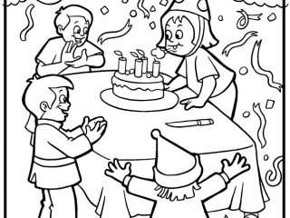 320x240 Birthday Party Colouring Pages Party Coloring Pages Birthday