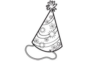 308x206 Coloring Activity Pages Party Hat Coloring Page