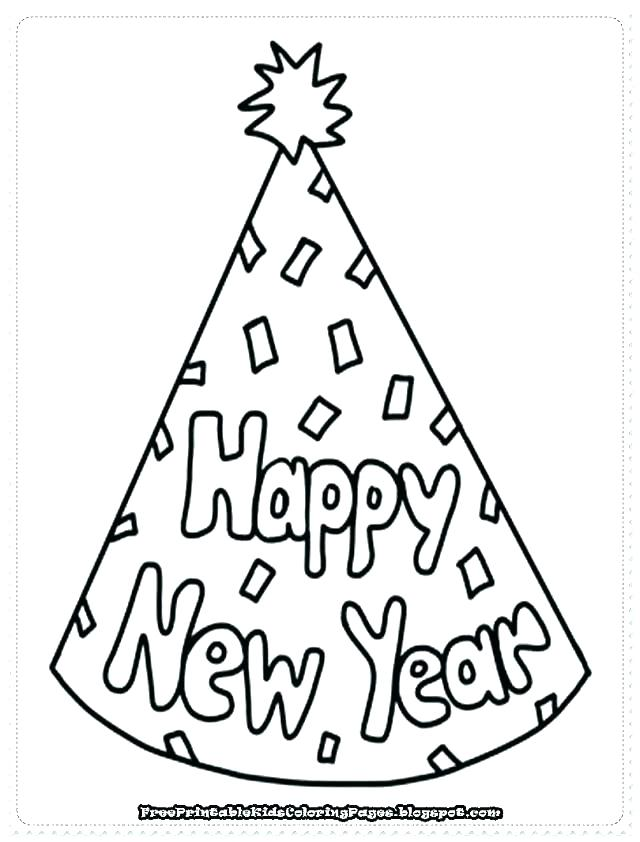 640x842 New Years Printable Coloring Pages Print Out Happy New Year Party