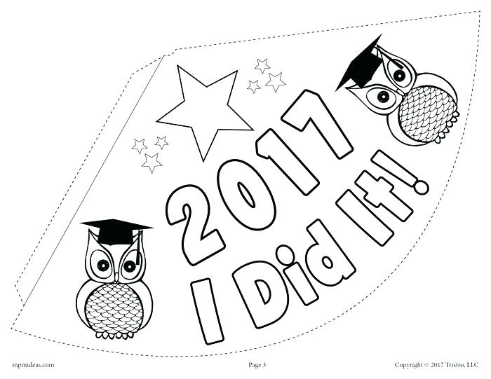 700x541 Party Hat Coloring Page Graduation Owl Coloring Page Harry Potter