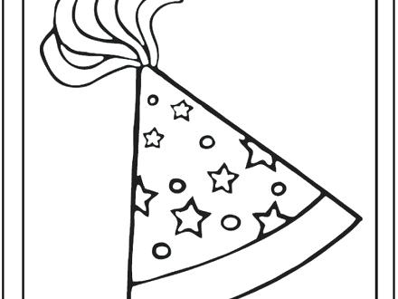 440x330 Party Hat Coloring Page