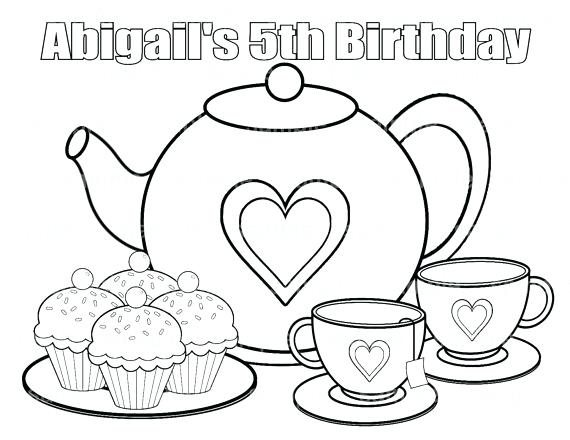 570x440 Birthday Party Coloring Pages Party Coloring Pages Birthday Party