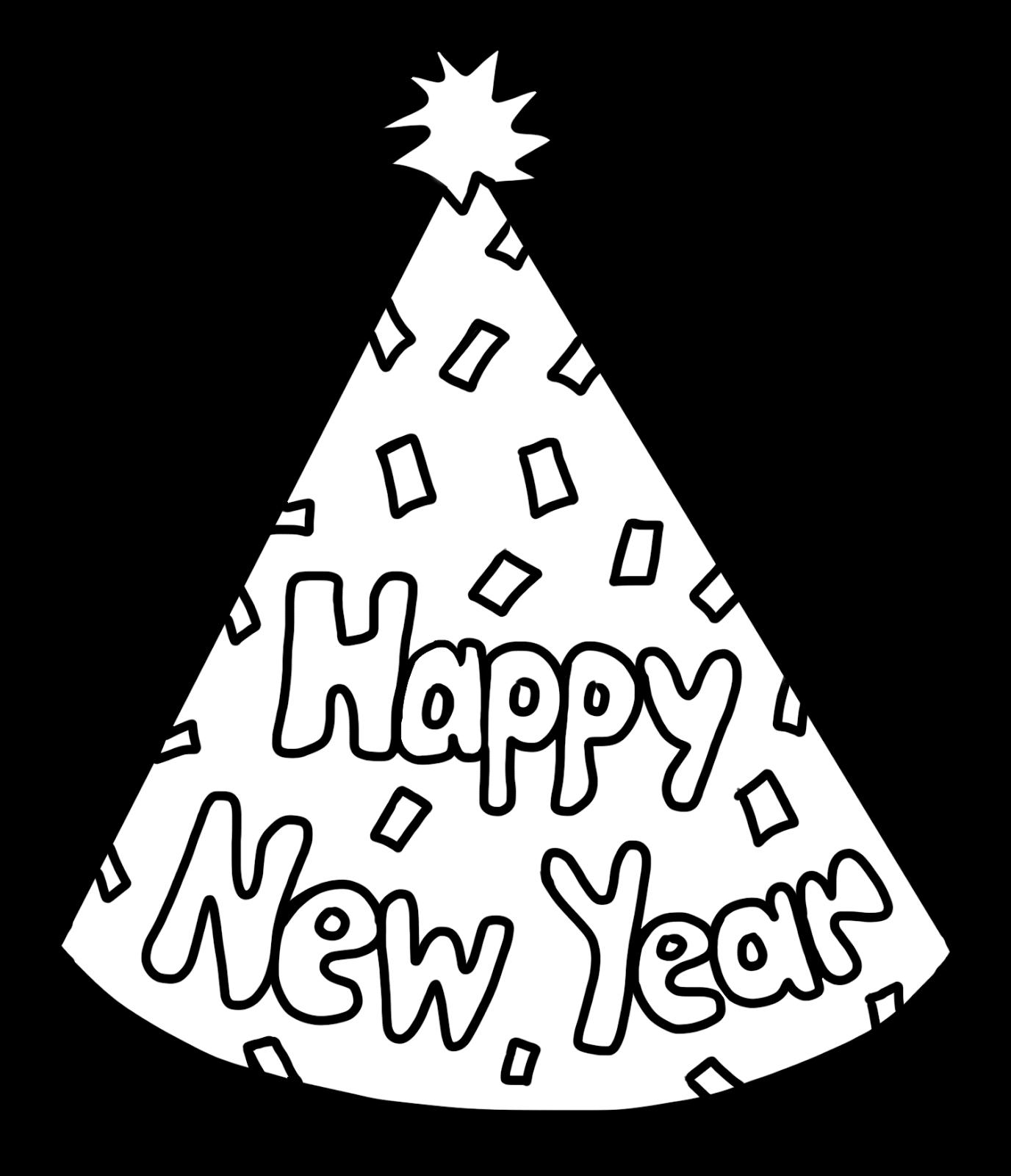 1376x1600 C C Teach First Happy New Year Party Hat Freebie Winter
