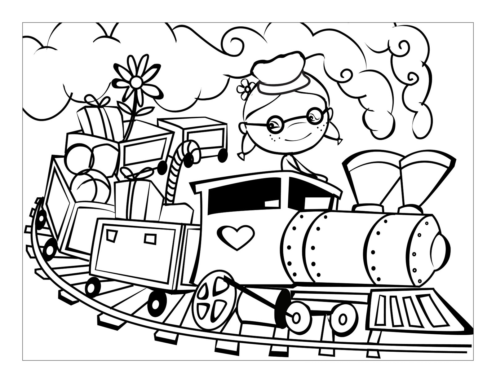 Passenger Train Coloring Pages