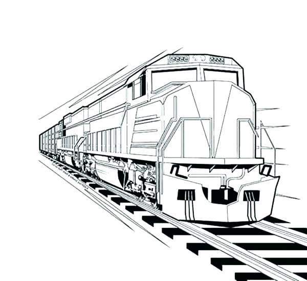 600x549 Coloring Pages Train Train Station Coloring Page Train Caboose