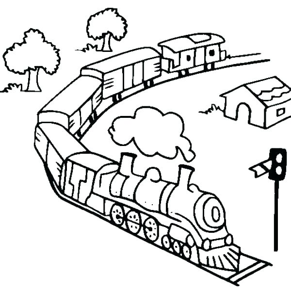 600x600 Coloring Pages Trains Coloring Page Train Free Printable The Pages