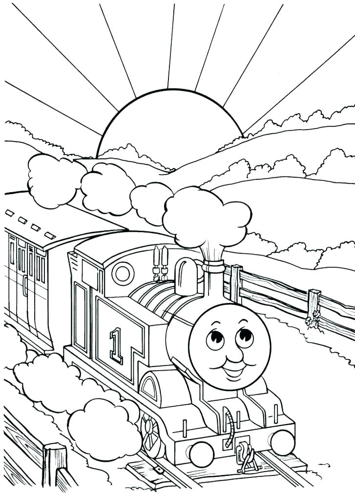727x1015 Free Coloring Pages Trains Steam Train Coloring Pages Train