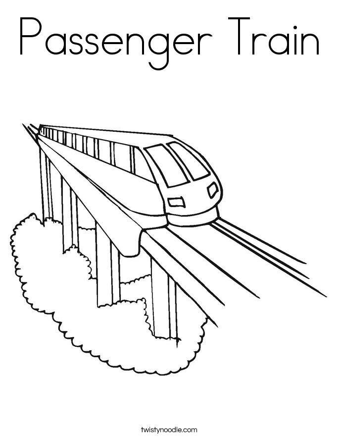 685x886 Passenger Train Coloring Page