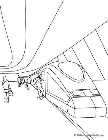364x470 Train Coloring Pages