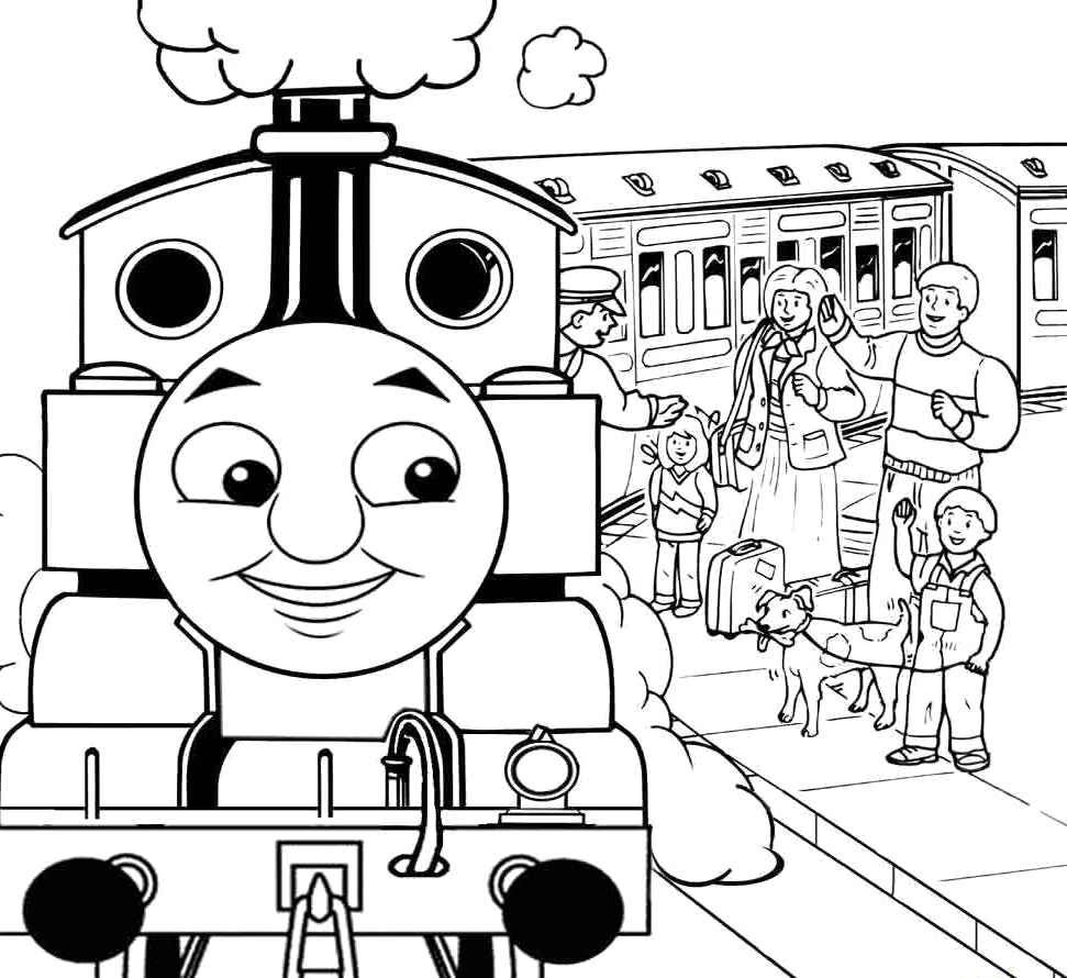 971x890 The Train Lower Passenger Coloring Pages Thomas