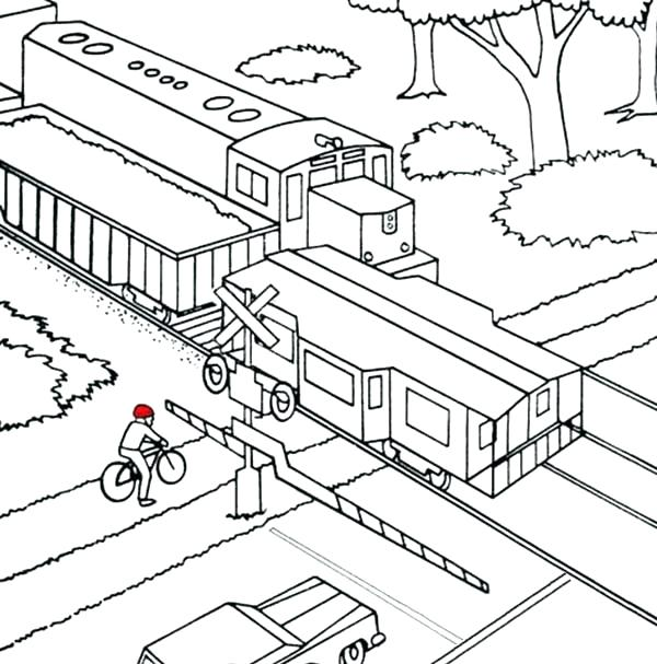 600x607 Train Color Pages Coloring Pages Trains And Train Coloring Pages