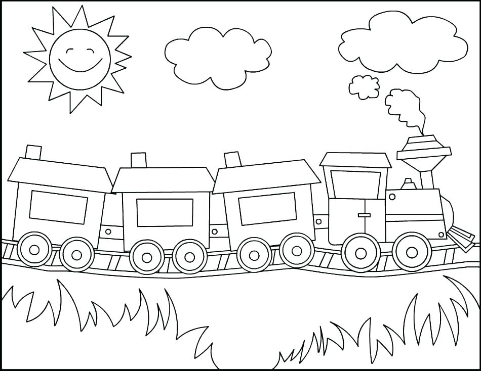 950x734 Train Coloring Pages Also Train Coloring Pages Station Coloring